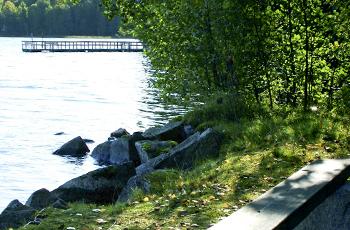 Hvittorp on Vitträsk-järven rannassa.
