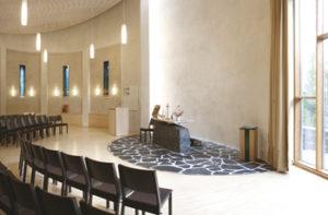 Hvittorpin kappeli toimii myös kokoustilana.
