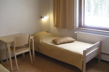 Hvittorp majoitushuoneet ovat rauhallisia.
